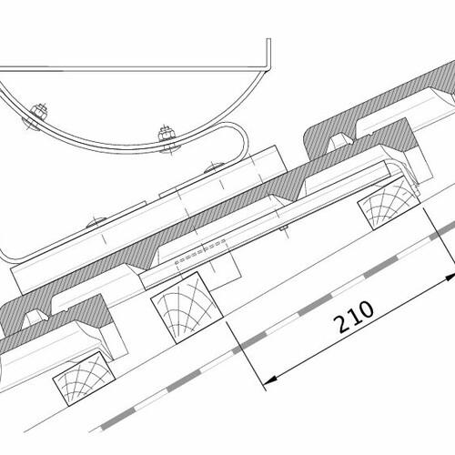Технічне креслення черепиці HEIDELBERG FUK PROFILIERTE-BDS