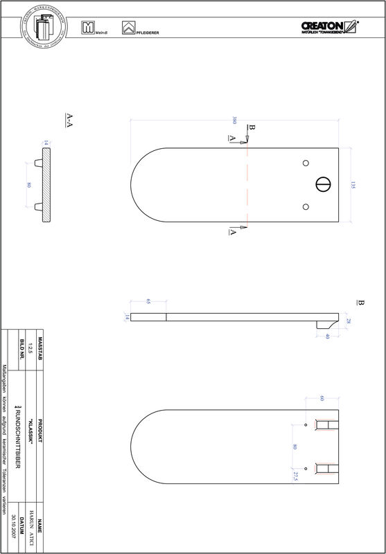 CAD файл черепиці KLASSIK напівкругла форма RUND-3-4