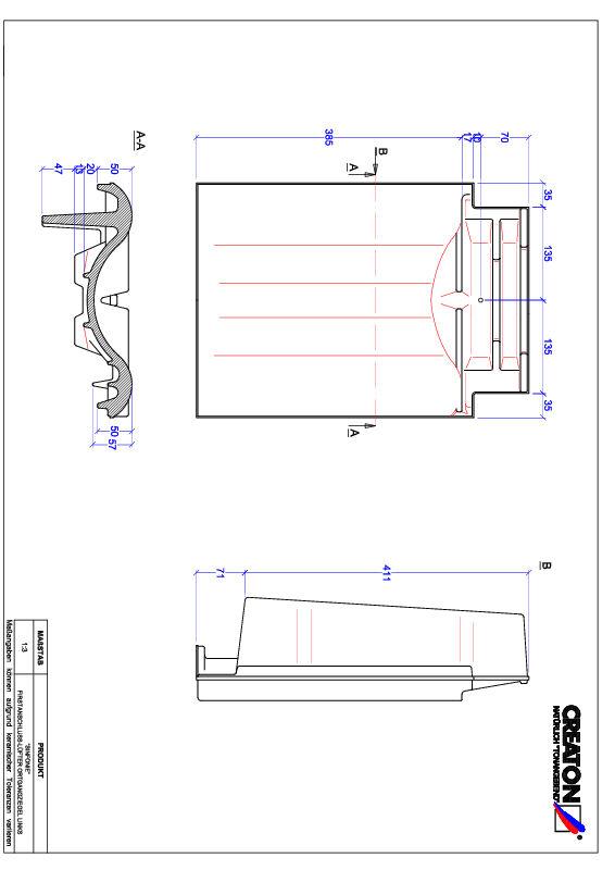 CAD файл черепиці SINFONIE черепиця  гребенева вентиляційна бічна ліва FALOGL