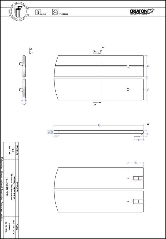 CAD файл черепиці PROFIL сегментна форма KERA-SAECHS-18-CM-LH