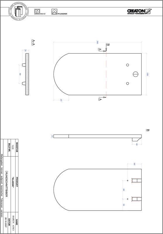 CAD файл черепиці KLASSIK напівкругла форма RUND-1-1