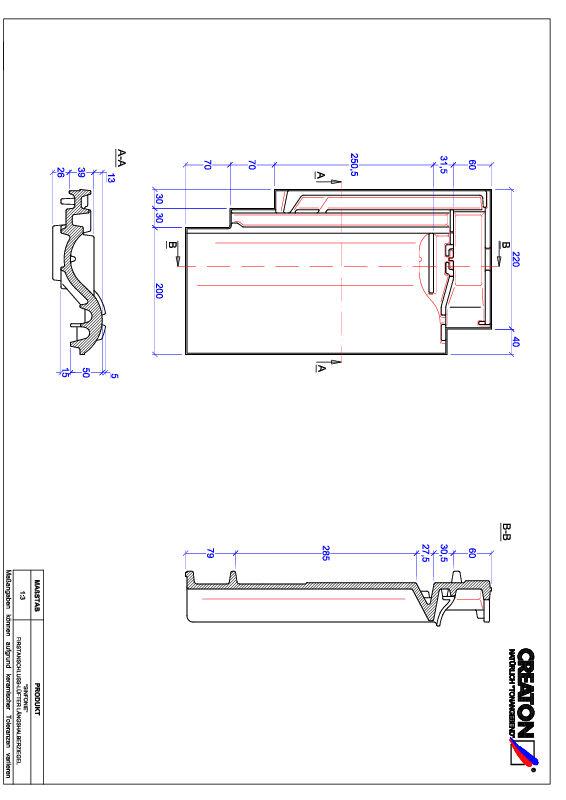CAD файл черепиці SINFONIE половинчаста черепиця  гребенева вентиляційна FALLH