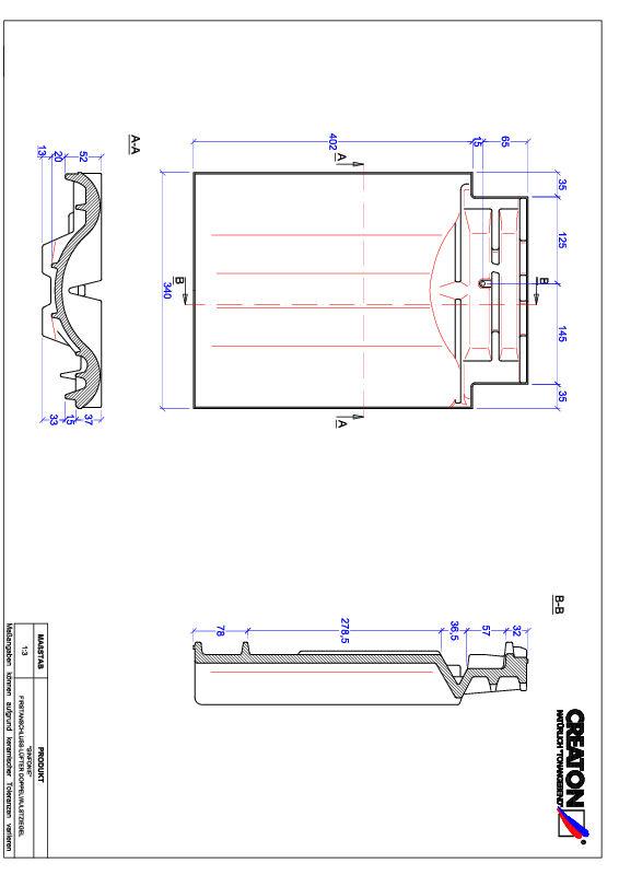 CAD файл черепиці SINFONIE двохвильова черепиця  гребенева вентиляційна FALDWZ