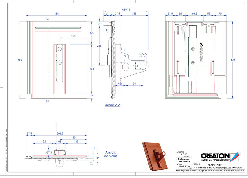CAD файл черепиці KAPSTADT осн. дах. Rundrohr