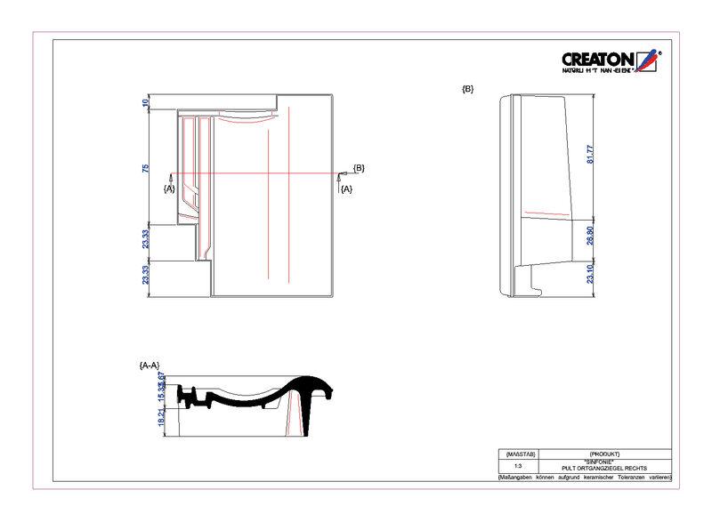 CAD файл черепиці SINFONIE черепиця бічна права для односхилого даху PULTOGR