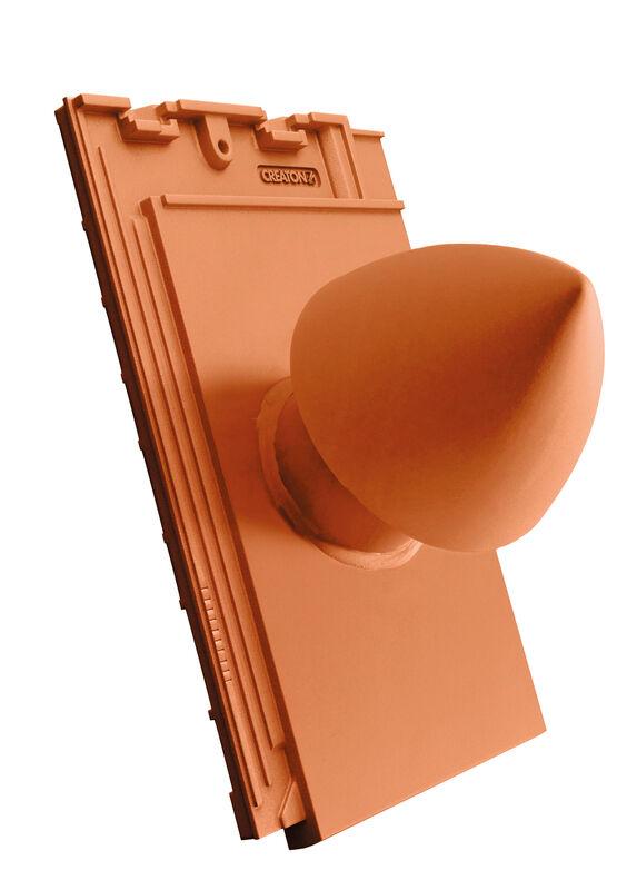SIM SIGNUM керамічний камін витяжний  для сантехнічної установки DN 100 мм з кришкою, що відкручується, з шланговим з'єднанням (з адаптером)