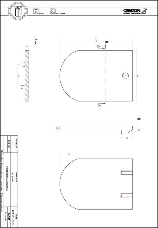 CAD файл черепиці KLASSIK напівкругла форма RUND-FAZ