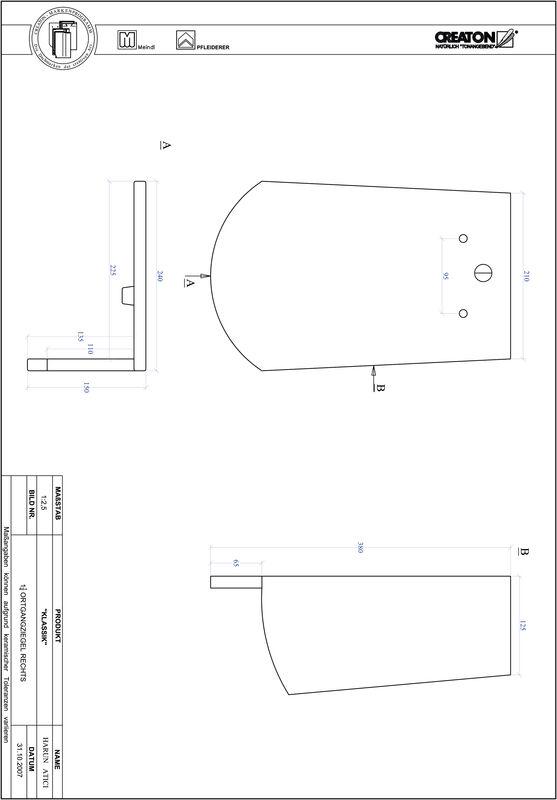CAD файл черепиці KLASSIK напівкругла форма RUND-OGR-1-1-4