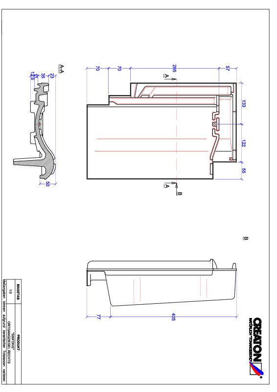 CAD файл черепиці SINFONIE черепиця бічна права OGR