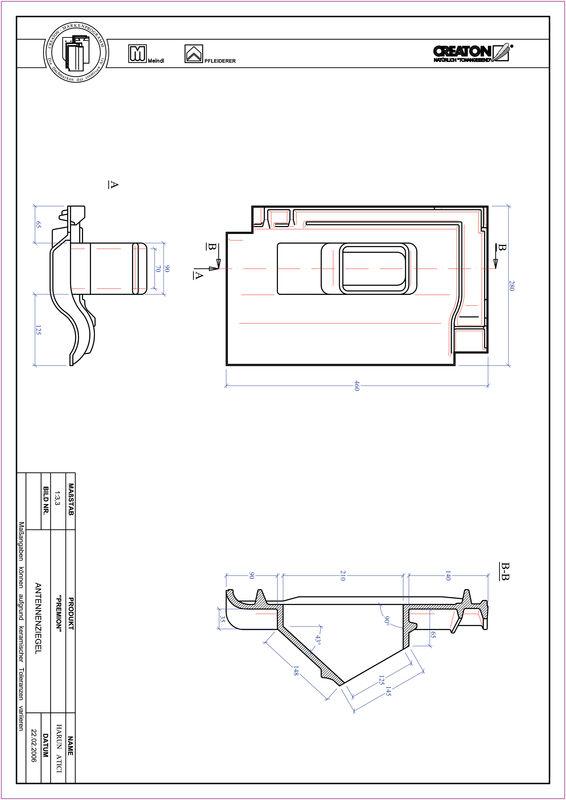 CAD файл черепиці PREMION антенна черепиця ANTENNE