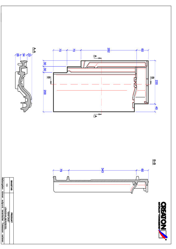 CAD файл черепиці SINFONIE половинчаста черепиця LH