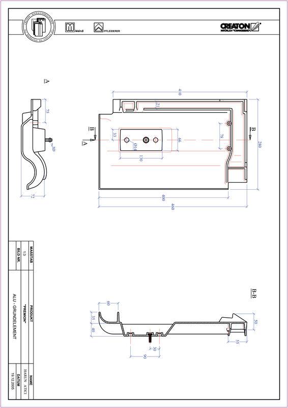 CAD файл черепиці PREMION алюміній ґрунт. GRUNDALU