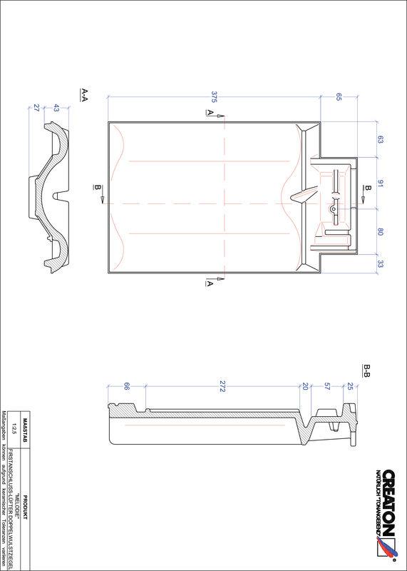 CAD файл черепиці MELODIE двохвильова черепиця  гребенева вентиляційна FALDWZ