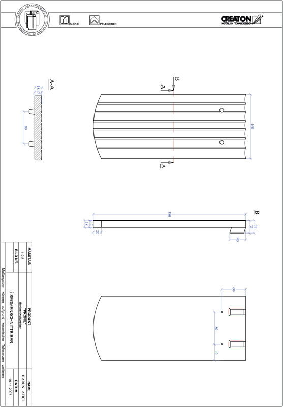 CAD файл черепиці PROFIL сегментна форма BKBI-1-1