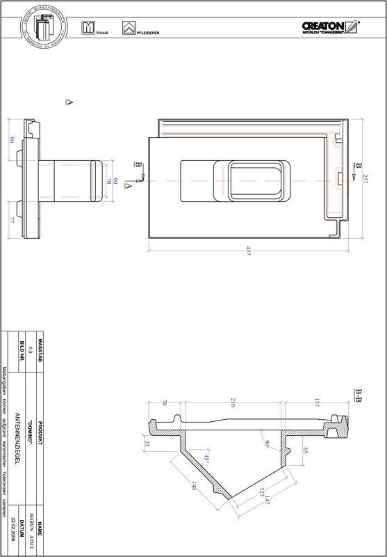 CAD файл черепиці DOMINO антенна черепиця ANTENNE