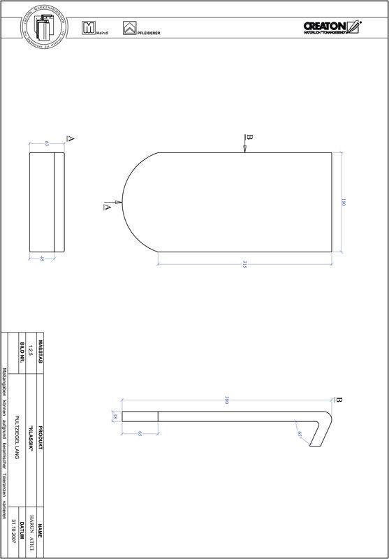 CAD файл черепиці KLASSIK напівкругла форма RUND-PULT-lang1