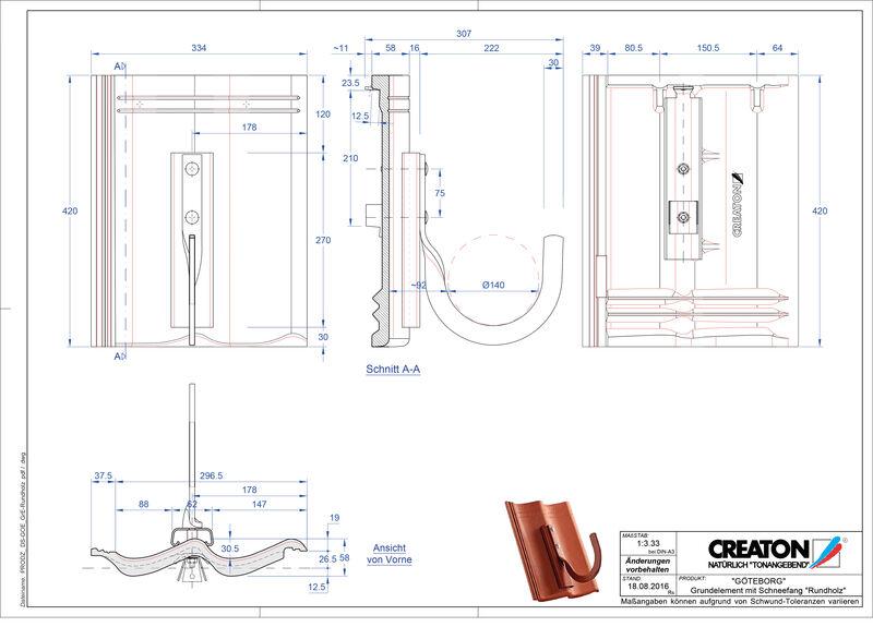 CAD файл черепиці GÖTEBORG осн. дах. Rundholz