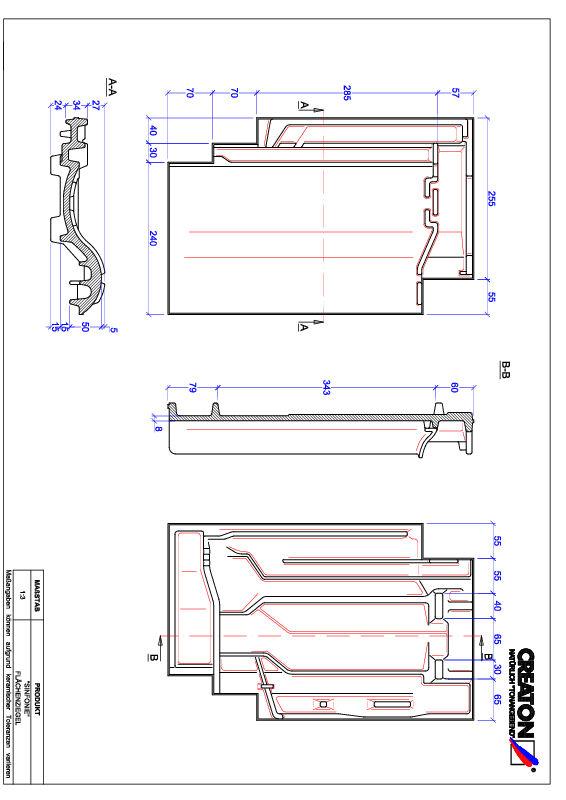 CAD файл черепиці SINFONIE покрівельна черепиця FLA