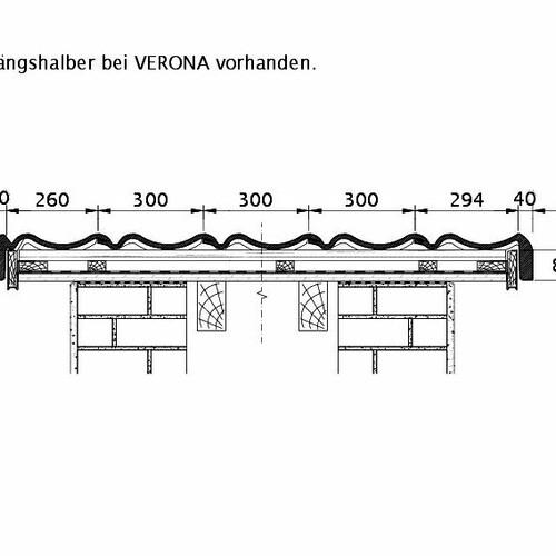 Технічне креслення черепиці VERONA ORL PROFILIERTE-BDS