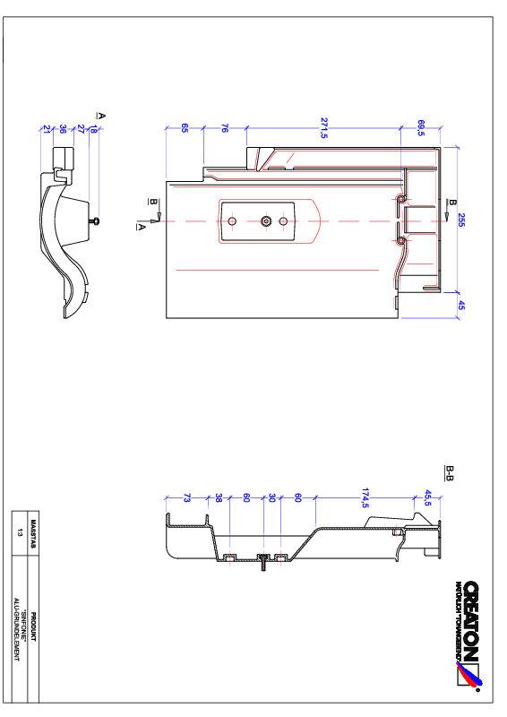 CAD файл черепиці SINFONIE алюміній ґрунт. GRUNDALU