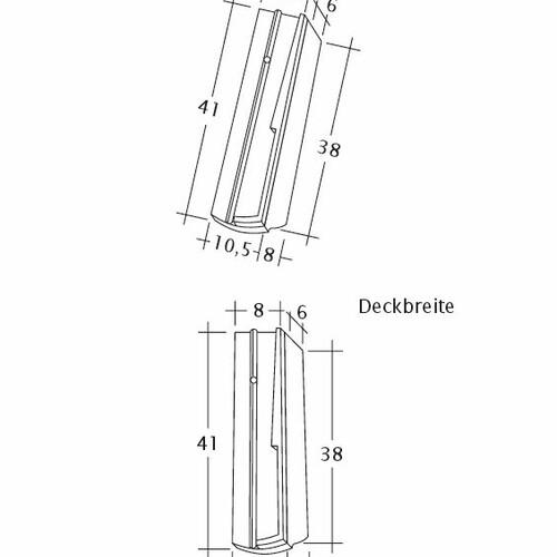 Технічне креслення черепиці PROFIL Kera-Saechs-18cm-SchiebeOG