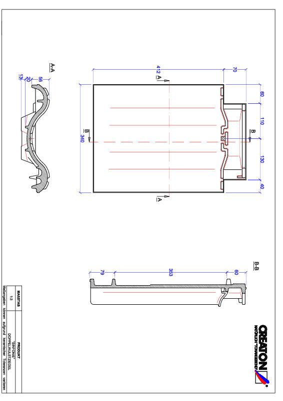 CAD файл черепиці SINFONIE двохвильова черепиця DWZ