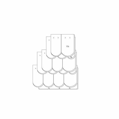 Технічне креслення черепиці KLASSIK OGAusbildung-Kronendeckung-3-4-1-1-4-Traufziegel
