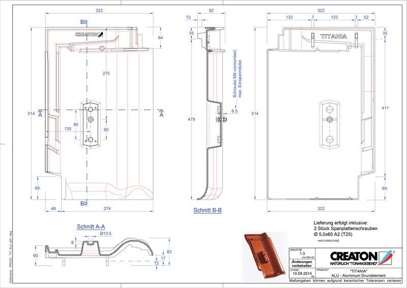 CAD файл черепиці TITANIA алюміній ґрунт. GRUNDALU