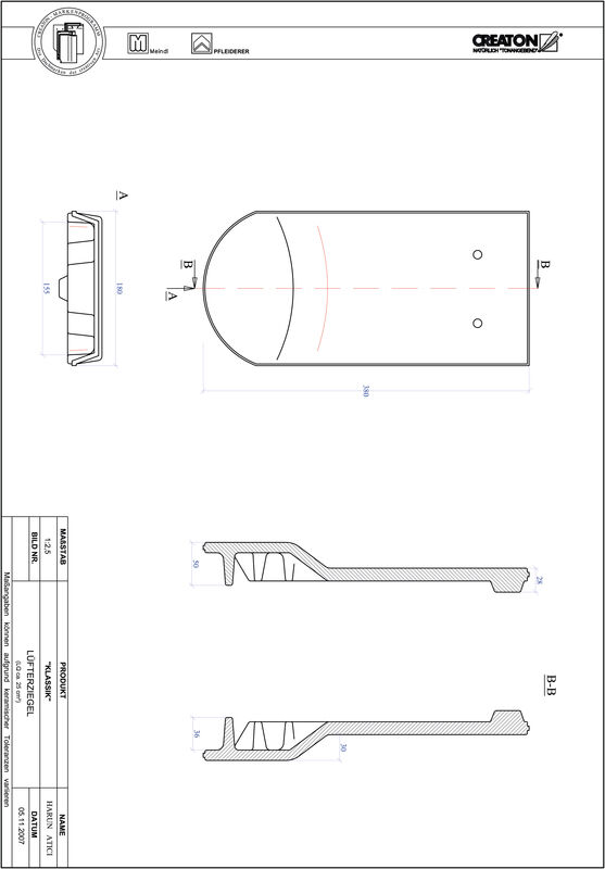 CAD файл черепиці KLASSIK напівкругла форма RUND-LUEFTZ