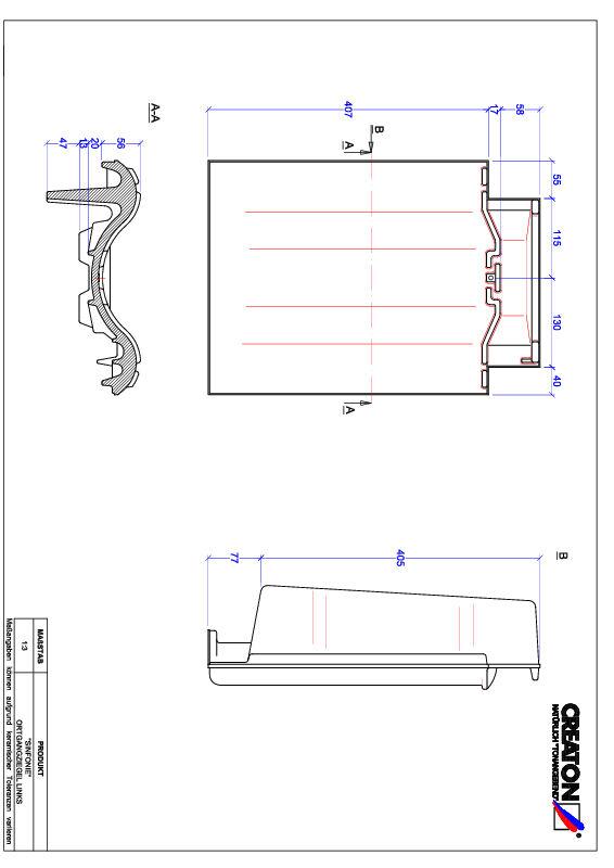CAD файл черепиці SINFONIE черепиця бічна ліва OGL