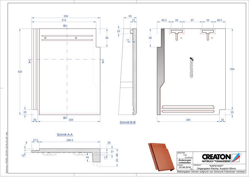 CAD файл черепиці KAPSTADT черепиця бічна права OGR-90