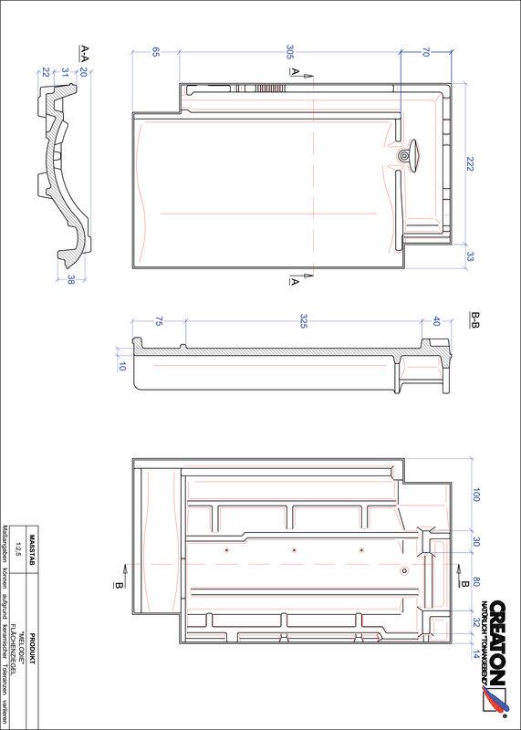 CAD файл черепиці MELODIE покрівельна черепиця FLA