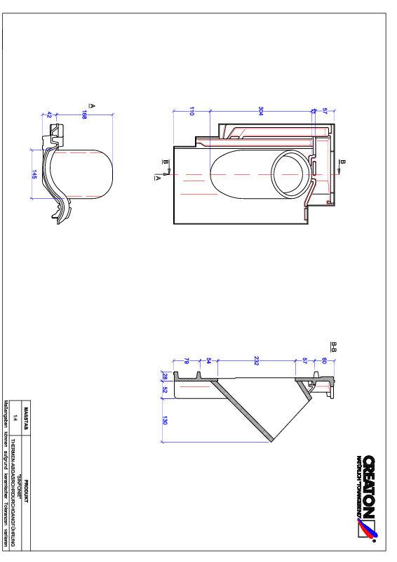 CAD файл черепиці SINFONIE наскрізна черепиця для газових димоходів THERME