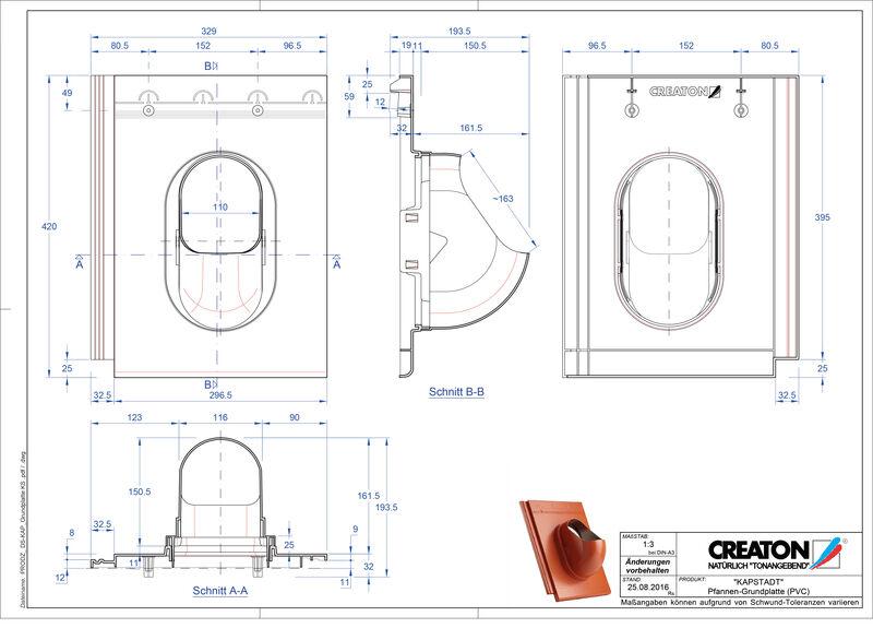 CAD файл черепиці KAPSTADT аксесуари Grundplatte-PVC
