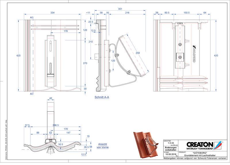 CAD файл черепиці GÖTEBORG осн. дах. Laufrost