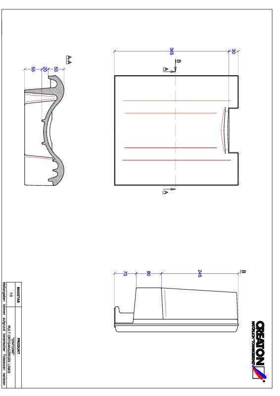 CAD файл черепиці SINFONIE черепиця бічна ліва для односхилого даху PULTOGL