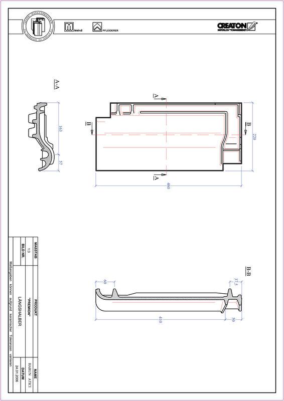 CAD файл черепиці PREMION половинчаста черепиця LH