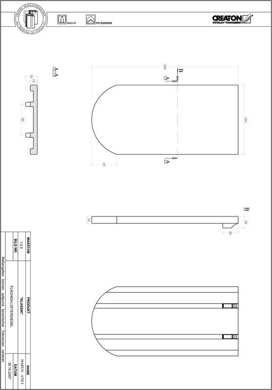 CAD файл черепиці KLASSIK напівкругла форма RUND-FLUEFTZ