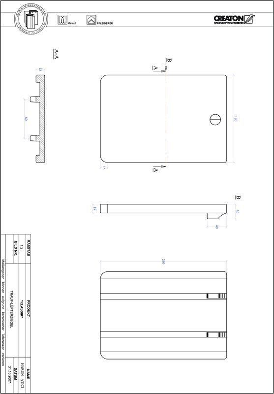 CAD файл черепиці KLASSIK напівкругла форма RUND-TRAUF-LUEFTZ