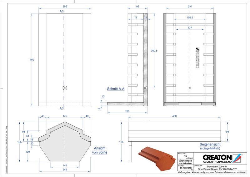 CAD файл черепиці KAPSTADT аксесуари FIRST-First-AN-EN