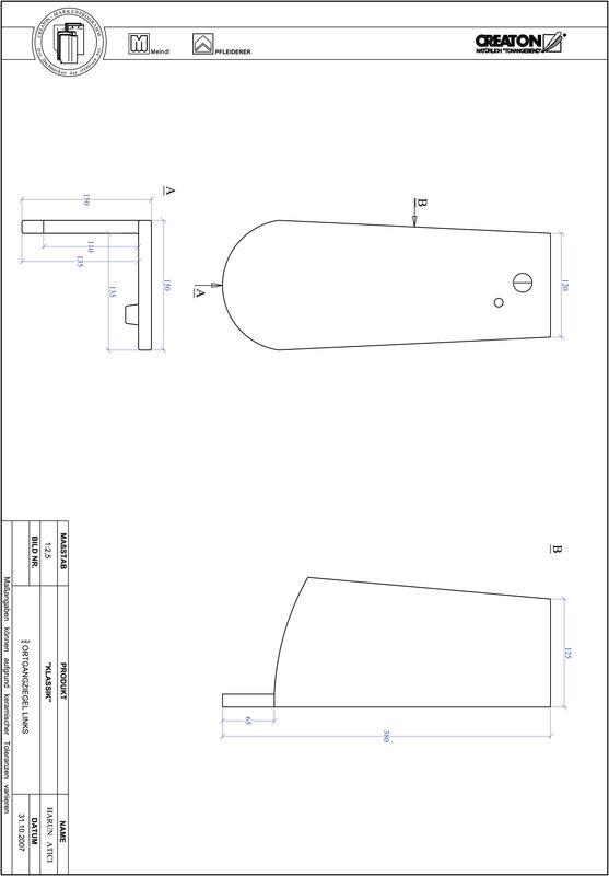 CAD файл черепиці KLASSIK напівкругла форма RUND-OGL-3-4