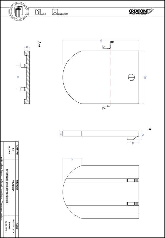 CAD файл черепиці KLASSIK напівкругла форма RUND-FALZ
