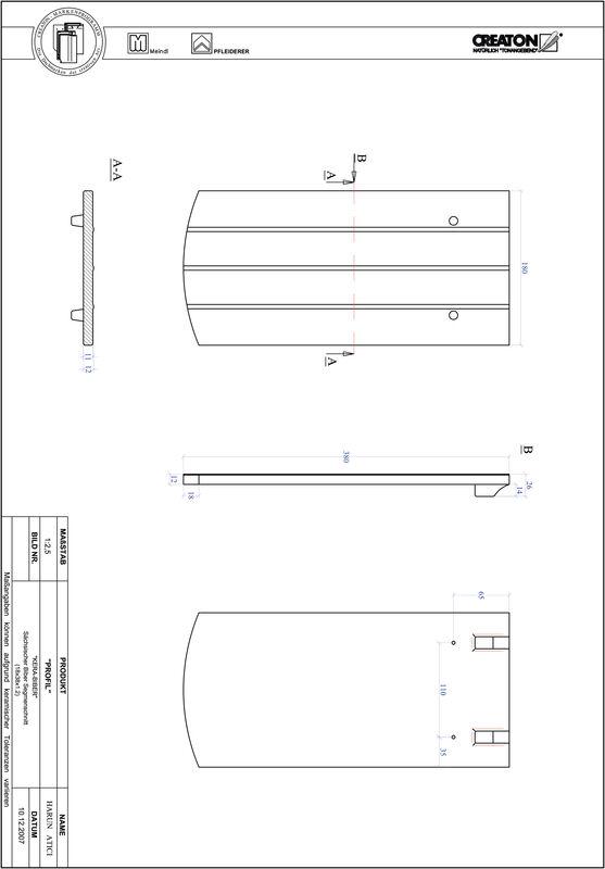 CAD файл черепиці PROFIL сегментна форма KERA-SAECHS-18-CM-1-1