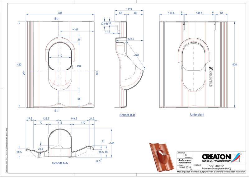 CAD файл черепиці GÖTEBORG аксесуари Grundplatte-PVC