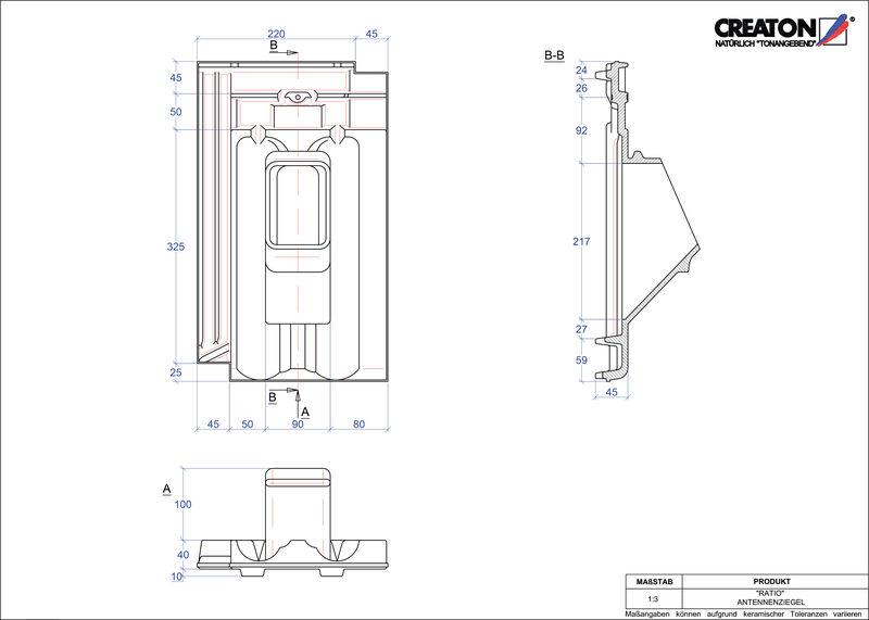 CAD файл черепиці RATIO антенна черепиця ANTENNE
