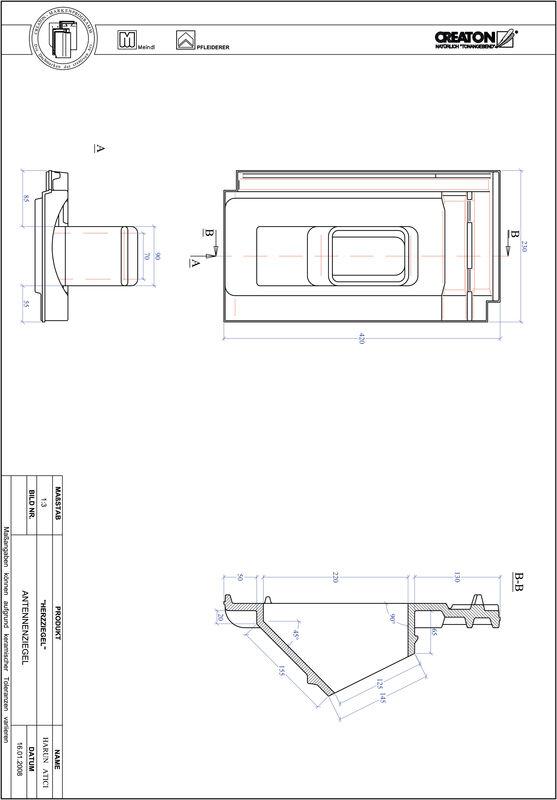 CAD файл черепиці HERZZIEGEL антенна черепиця ANTENNNE