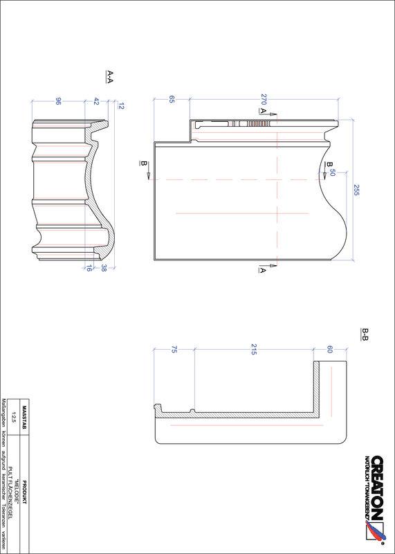 CAD файл черепиці MELODIE покрівельна черепиця для односхилого даху PULTFLA