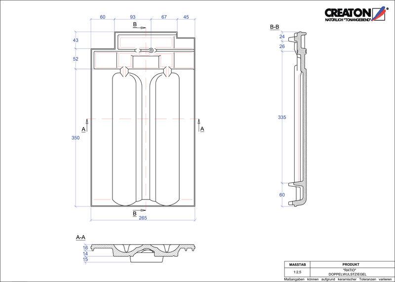 CAD файл черепиці RATIO двохвильова черепиця DWZ