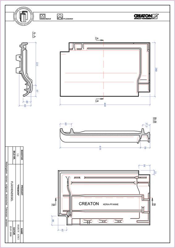 CAD файл черепиці PREMION покрівельна черепиця FLA