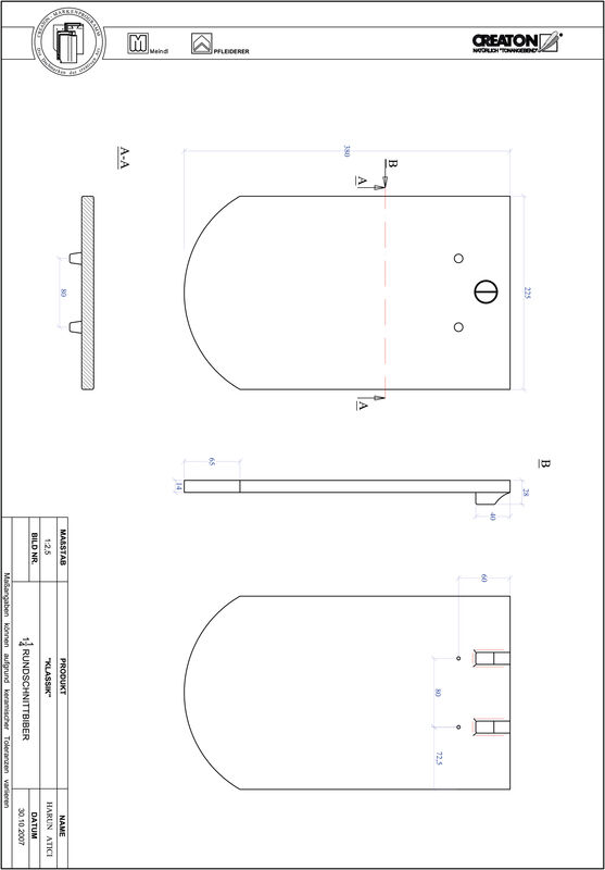 CAD файл черепиці KLASSIK напівкругла форма RUND-1-1-4